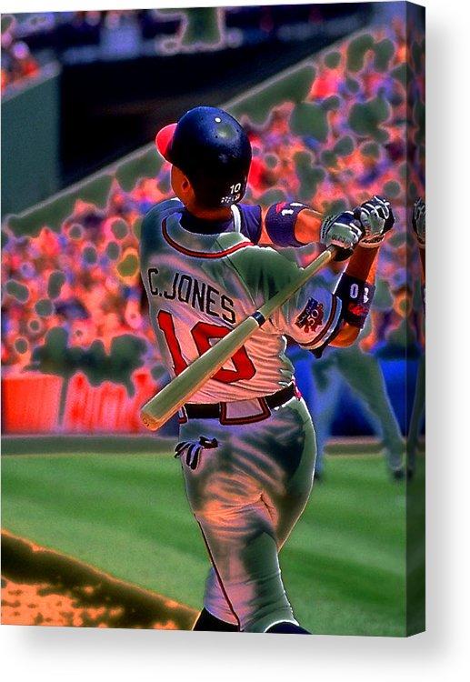 Baseball Acrylic Print featuring the photograph Chipper Jones by Rod Kaye