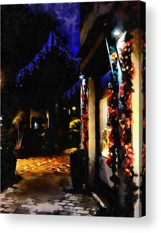 Shadows Acrylic Print featuring the photograph Christmas Street Impressions by Dorothy Berry-Lound