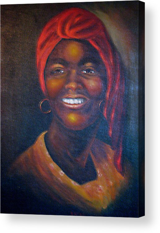Black Women Acrylic Print featuring the painting Cicely Tyson by Irene Schilling
