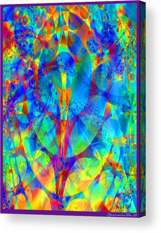 Digital Acrylic Print featuring the digital art Circles Of Life by Charmaine Zoe