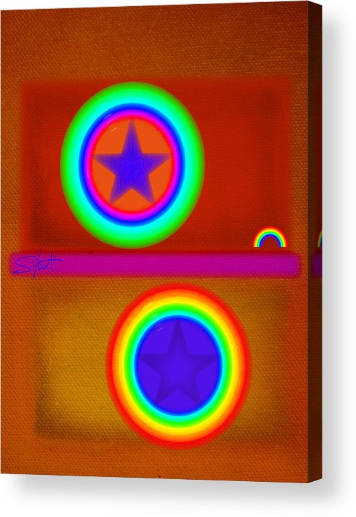 Balance Acrylic Print featuring the painting Circus by Charles Stuart