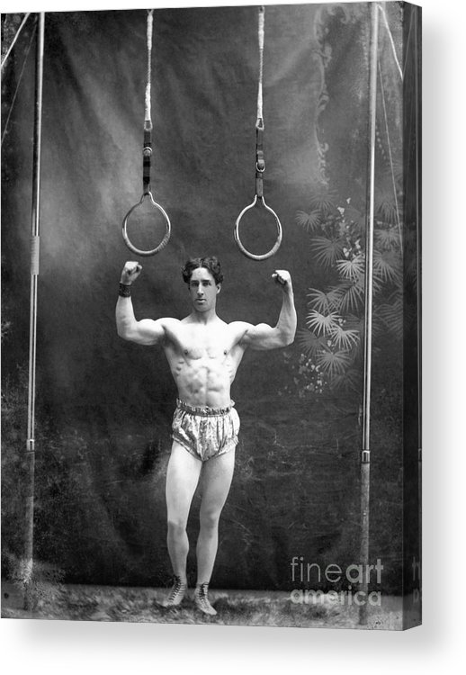 1885 Acrylic Print featuring the photograph Circus Strongman, 1885 by Granger