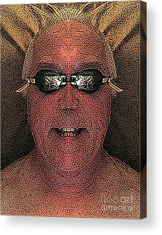 Self Portrait Acrylic Print featuring the digital art Clear Mind by Ron Bissett