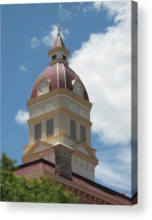 Clock Acrylic Print featuring the photograph Clock Tower by Rebecca Shupp