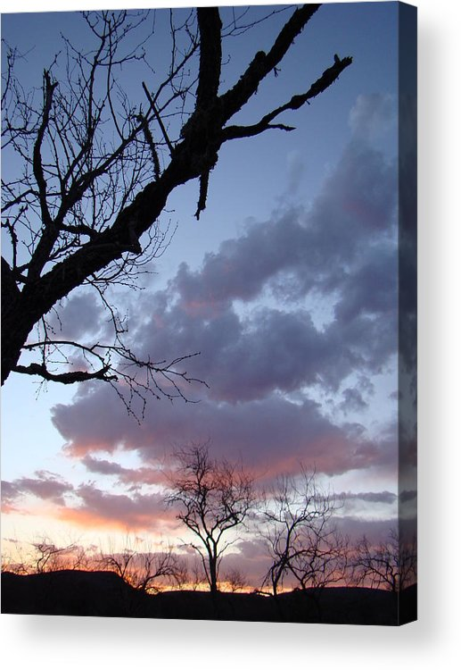 Landscape Acrylic Print featuring the photograph Cloudy Sunset Two by Ana Villaronga