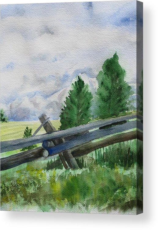 Landscape Acrylic Print featuring the painting Colorado Clouds by Kathy Mitchell