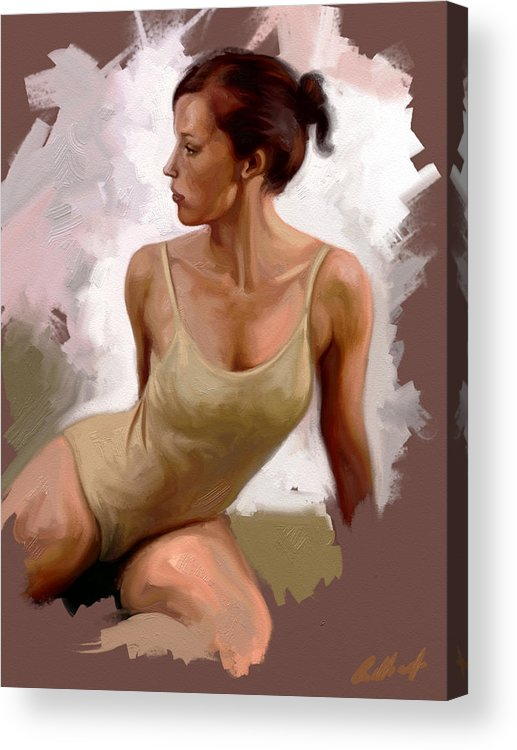 Figurative Acrylic Print featuring the digital art Colour Study 1 by Stuart Gilbert