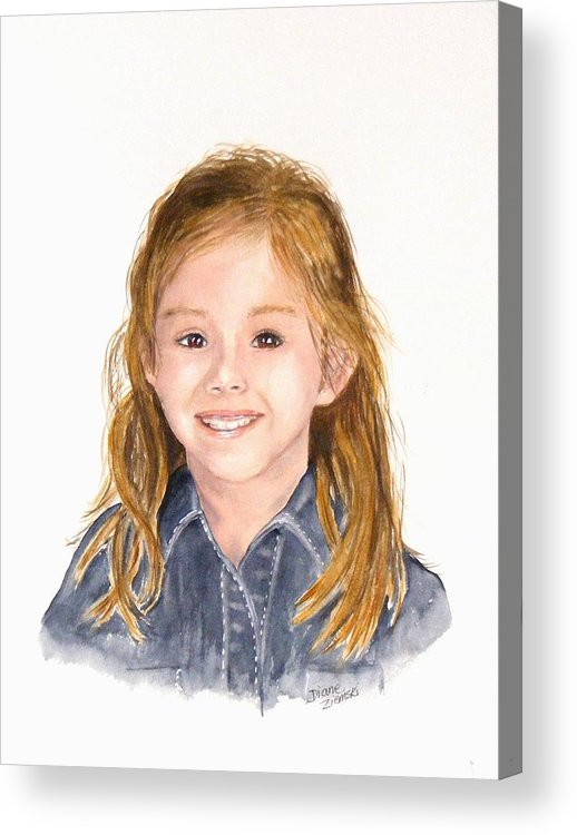 Portraits Acrylic Print featuring the painting Commissioned Portrait 3 by Diane Ziemski