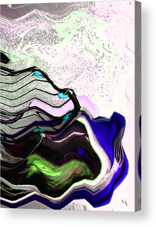 Abstract Acrylic Print featuring the digital art Corral For Unicorns by Lenore Senior