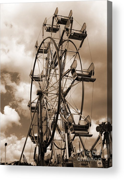 Ferris Wheel Acrylic Print featuring the photograph County Fair by Kathy Jennings