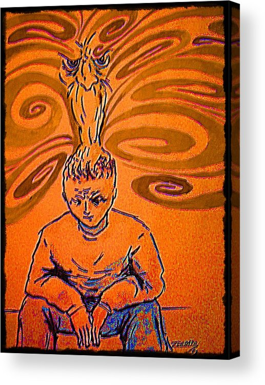 Crisis Acrylic Print featuring the digital art Crisis Of Conscience by Paulo Zerbato