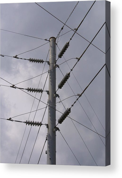 Outdoor Acrylic Print featuring the photograph Crossed Wires by Stephanie Richards