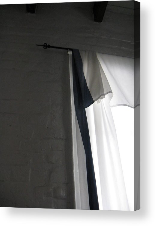 Window Acrylic Print featuring the photograph Curtain by Tom Hefko