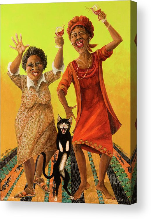 Whimsical Acrylic Print featuring the painting Dancin' Cause It's Tuesday by Shelly Wilkerson