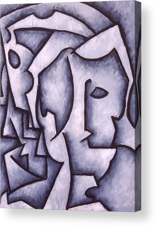 Abstract Acrylic Print featuring the painting David by Thomas Valentine
