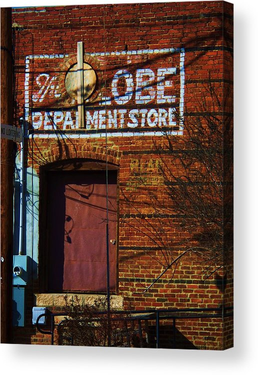 Brick Acrylic Print featuring the photograph Delivery Door by Beverly Hammond