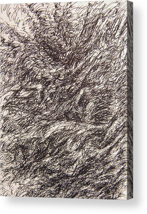 Landscape Acrylic Print featuring the drawing Detonate by Uwe Schein