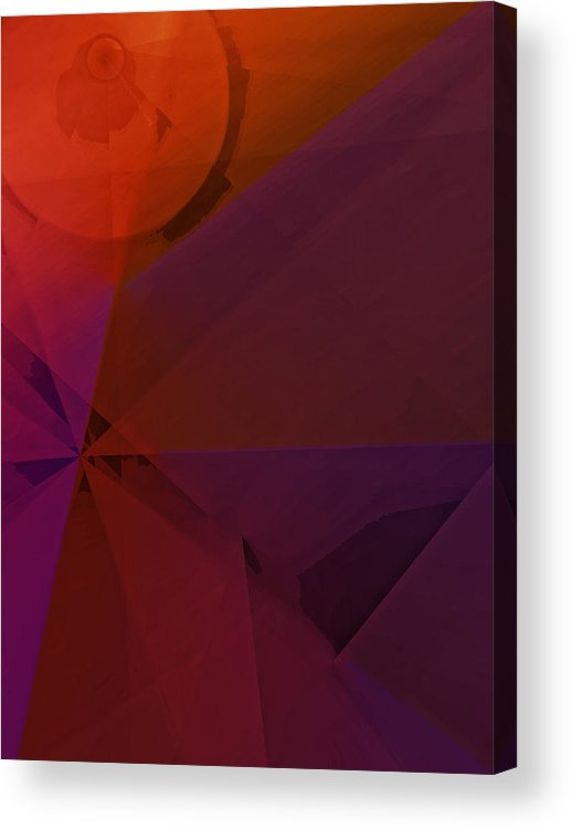 Abstract Acrylic Print featuring the digital art Distant Structures by Ian MacDonald