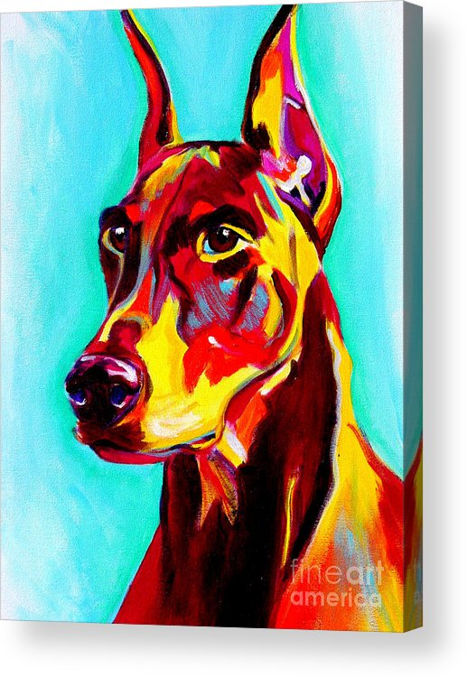 Dog Acrylic Print featuring the painting Doberman - Prince by Alicia VanNoy Call