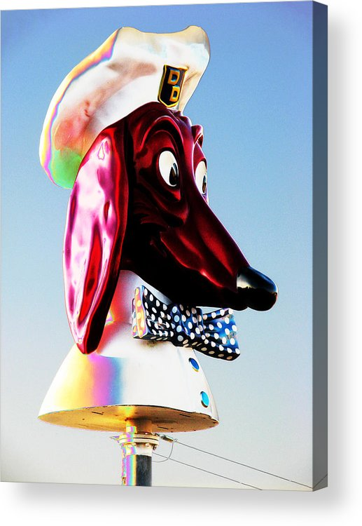 Doggie Acrylic Print featuring the photograph Doggie Diner Sign by Samuel Sheats