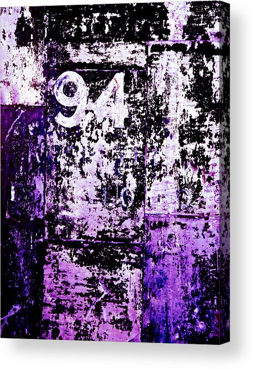 Abstract Acrylic Print featuring the photograph Door 94 Perception by Bob Orsillo