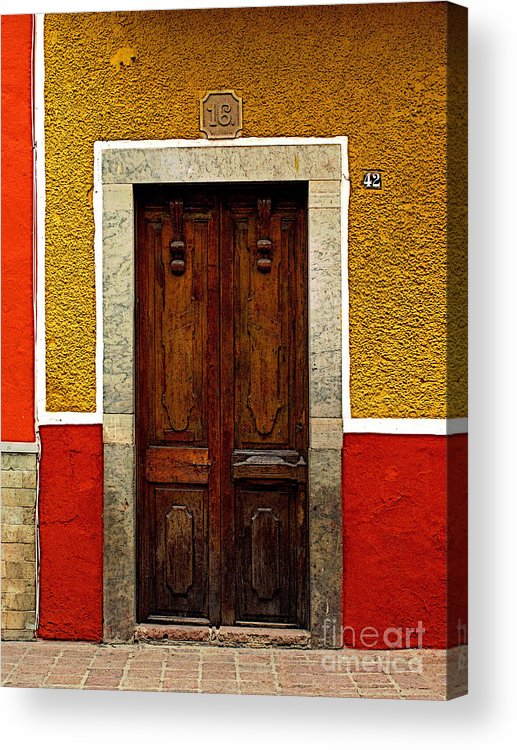 Darian Day Acrylic Print featuring the photograph Door In Abstract by Mexicolors Art Photography