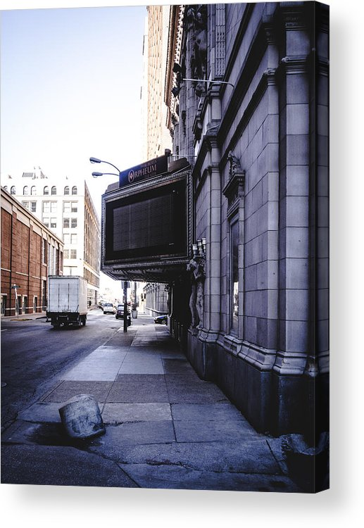 Urban Acrylic Print featuring the photograph Downtown Saint Louis Street Photo by Dylan Murphy