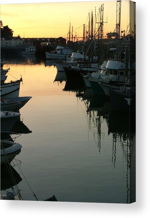 Waterfront Acrylic Print featuring the photograph Dusk - Northern California by Donna Thomas