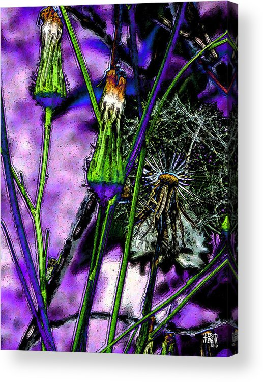 Flowers Acrylic Print featuring the digital art Earth Nail by Michele Caporaso