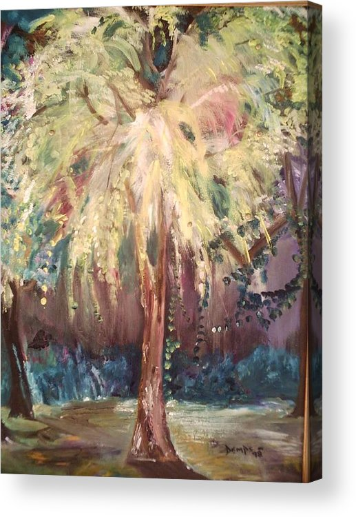 Landscape Acrylic Print featuring the painting Eden In The Evening by Impressionist FineArtist Tucker Demps Collection