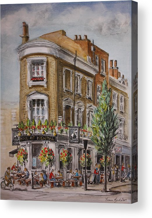 London Acrylic Print featuring the painting England London The Duke Of Kendal by Yvonne Ayoub