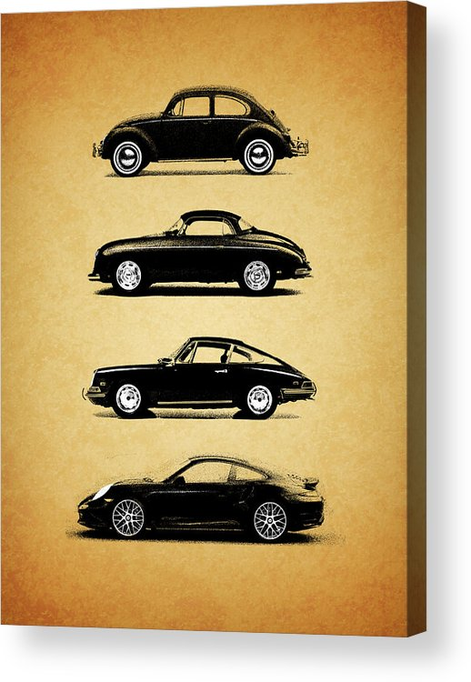 Porsche Acrylic Print featuring the photograph Evolution by Mark Rogan