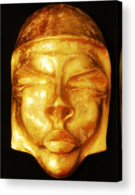 Mask Acrylic Print featuring the sculpture Exotic Women Of The Past by Alexander Almark