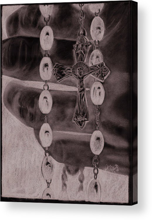 Faith Acrylic Print featuring the drawing Faith by Jason McRoberts