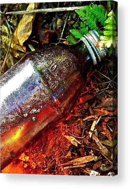 Garbage Acrylic Print featuring the photograph Faygo Luminescence by Jennifer Addington