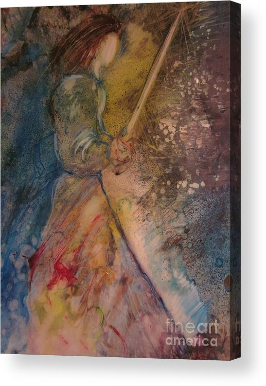 Sword Acrylic Print featuring the painting Fearless by Deborah Nell