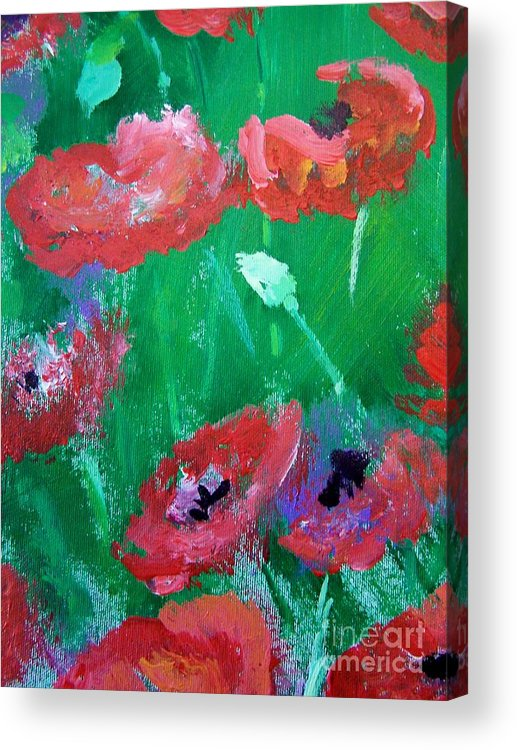 Acrylic Print featuring the print Field Of Red 2 by Geraldine Liquidano