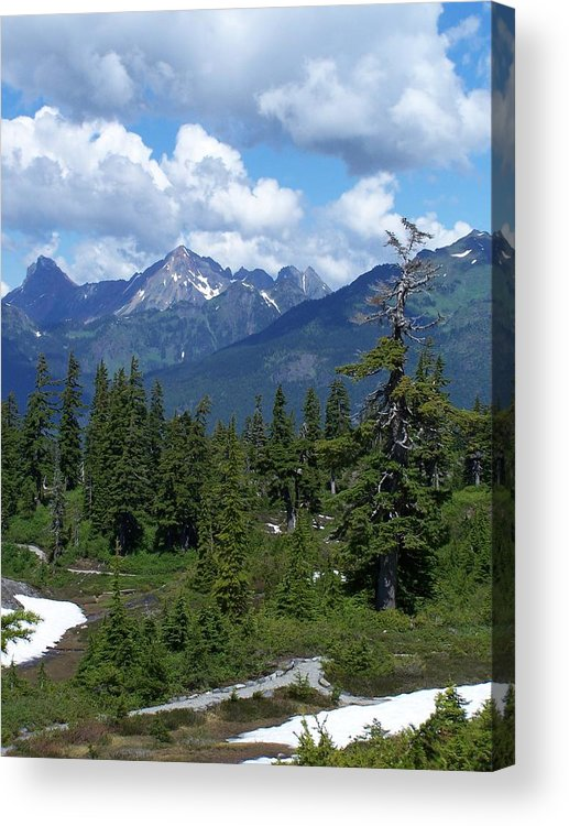 Cascades Acrylic Print featuring the photograph Fisher Chimney And Mt. Shuksan by Gene Ritchhart