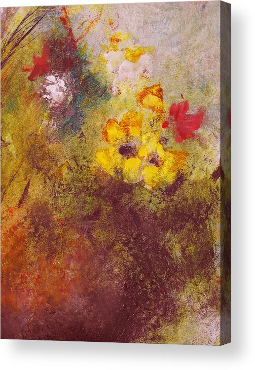 Botanical Acrylic Print featuring the painting Flora II by Ruth Palmer