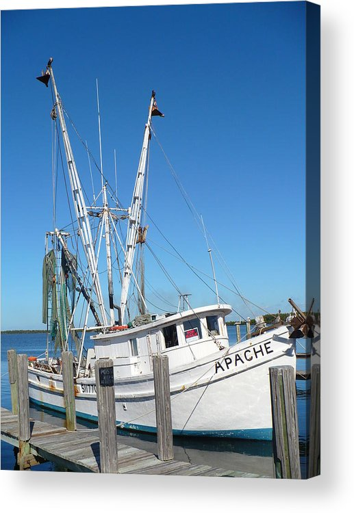 Boat Acrylic Print featuring the photograph Florida Shrimper by Florene Welebny