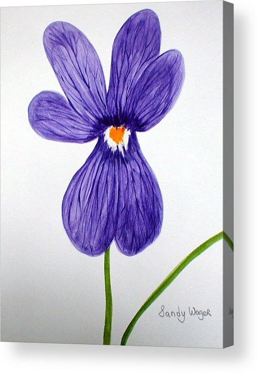 Flower Acrylic Print featuring the painting Flower3 by Sandy Wager