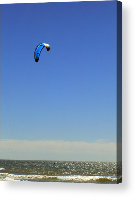 Seascape Acrylic Print featuring the photograph Fly In The Sky. by Robin Hernandez