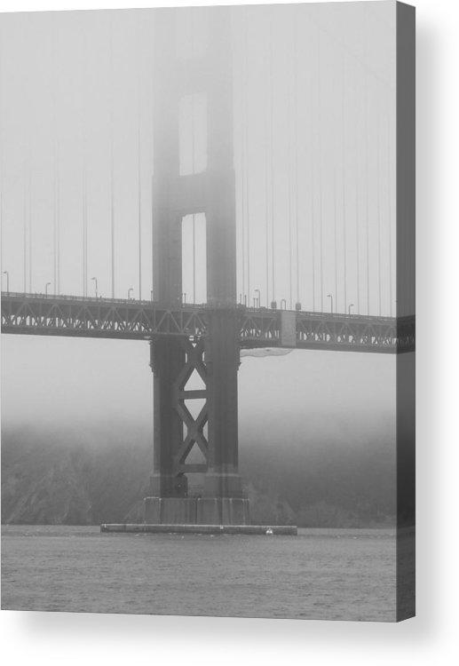 San Francisco Acrylic Print featuring the photograph Foggy Bridge by Jim Georgiana