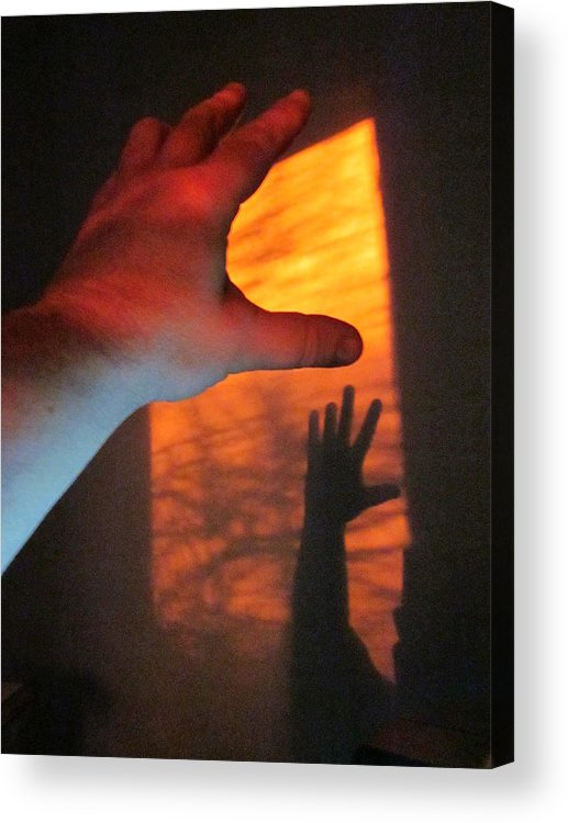 Guy Ricketts Photography Acrylic Print featuring the photograph Forever Living Hands by Guy Ricketts