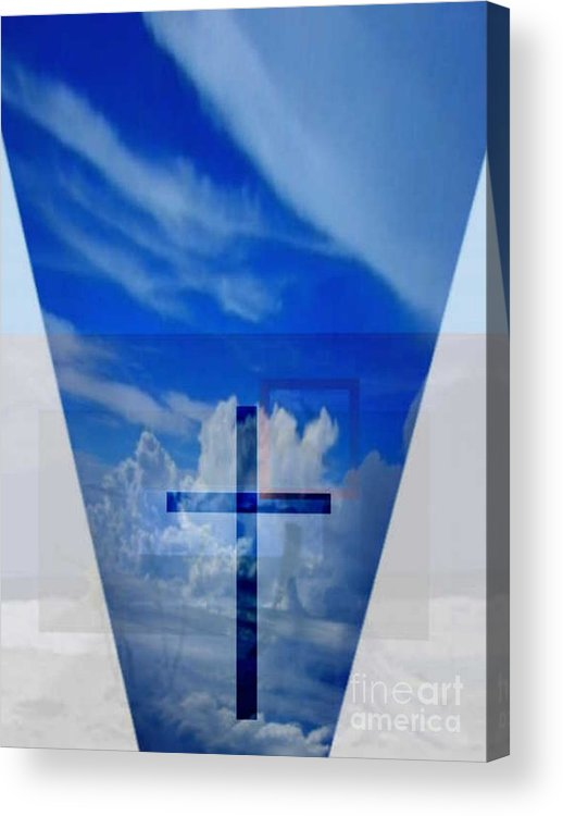Inspirational Acrylic Print featuring the digital art Forever Settled by Brenda L Spencer