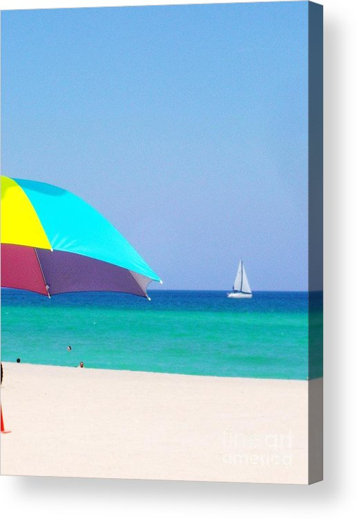Beach Acrylic Print featuring the photograph Fort Lauderdale Beach by Allan Einhorn