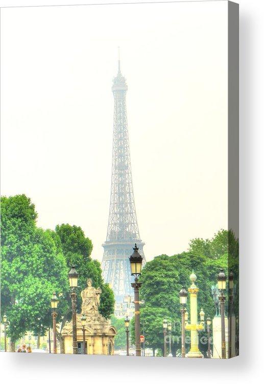 City Acrylic Print featuring the pyrography France by Yury Bashkin