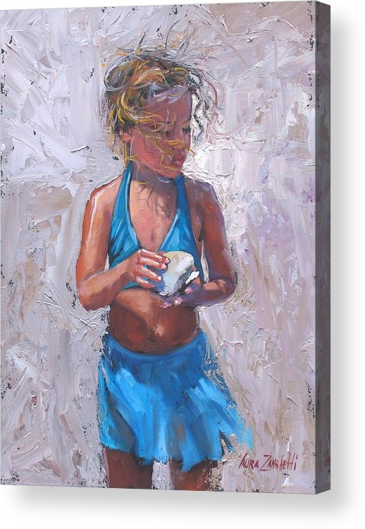 Young Girl Acrylic Print featuring the painting Gabby by Laura Lee Zanghetti