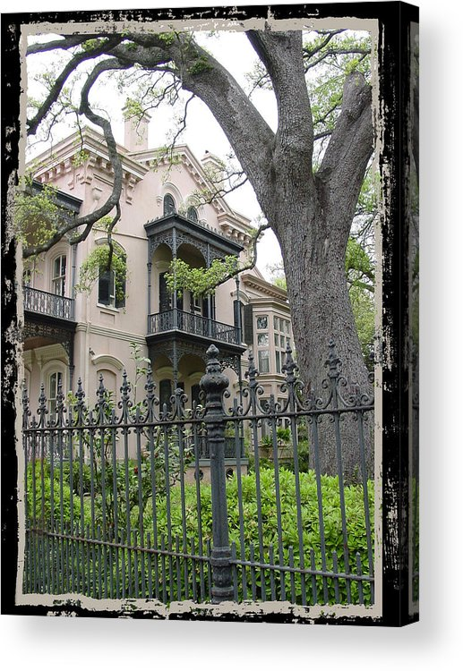 New Orleans Acrylic Print featuring the photograph Garden District House by Linda Kish