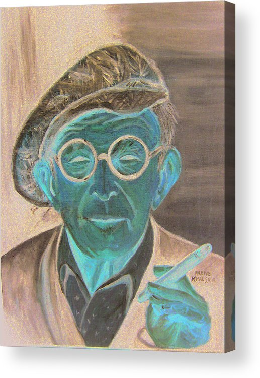Celebrity Acrylic Print featuring the painting George Burns by Irene Schilling